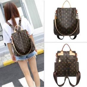 Luxury Leather 2 Ways Mommy Backpacks & Sling Bag