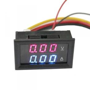 VoltmeterAmmeter DualMeter Display DC 100V 10A 50A