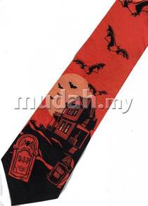 Halloween Haunted Ghost House Tombstone Neck Tie
