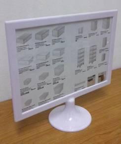 A4 Horizontal White PVC Menu Display Stand