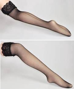 AS054 Sexy Fishnet Black Stockings Garter Thigh Hi