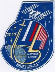 Soyuz MS-04 Russia Human Space Flights Badge Patch