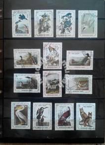 Haiti birds series stamps 14 pcs