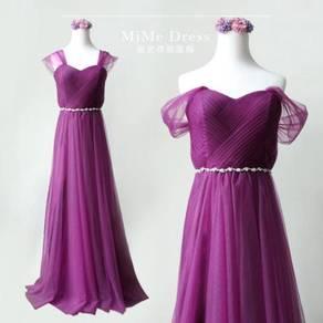 Purple wedding dress bridesmaid prom gown RBP0940