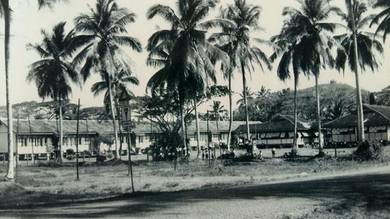 Vintage photo of old malay school, kangar, perlis