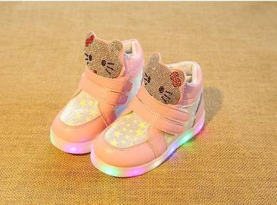 HighCut Hello Kitty Shoes with LED Light 0606-PINK