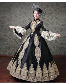 Black Long Sleeve Muslimah Gown Dress Wedding RBMW