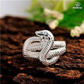 ABRS9-S002 Silver Sweet Unique Design Snake Ring
