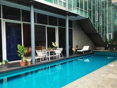 Semi-Furnished: 3sty Bungalow with Private Pool, Perdana Lakeview East