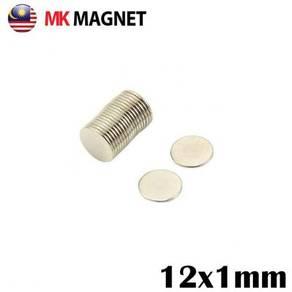 12x1mm Silver Neodymium Super Strong Magnet