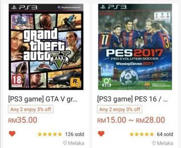 PS3 digital download games gta5 gta pes