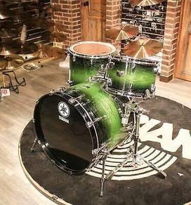 Yamaha Rock Tour 3pcs Green Sunburst Drum Set