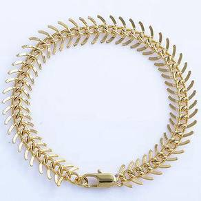 ABBGF-C001 9k Real Gold Filled Centipede Bracelet