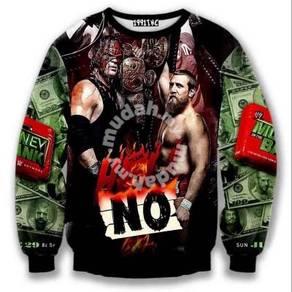 WWE WWF Wrestling Long jacket Lengan Panjang