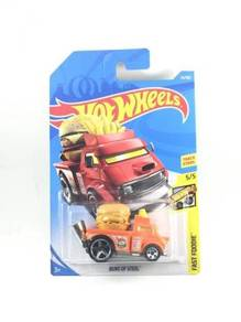 Hotwheels Fast Foodie Buns Of Steel #5 Orange