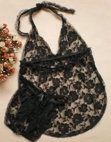 L002 new black sexy dress lingerie babydoll