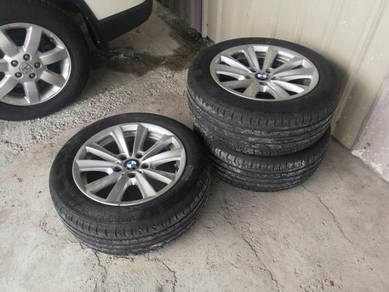 BMW F10 520 17 inch 225 55 17 80% New Tyres n Rim