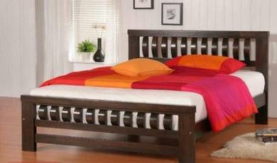 Queen bed frame solid wood new