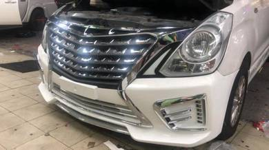 Hyundai starex facelift bumper bodykit conversion