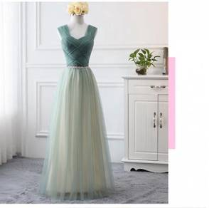 Green wedding dress bridesmaid prom gown RBP0944