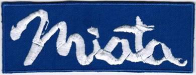 Mazda Miata BLUE Car Company Racing Emblem Patch