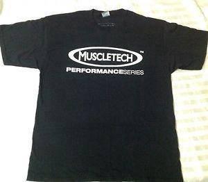 Muscletech shirt black baju muscletech bina badan