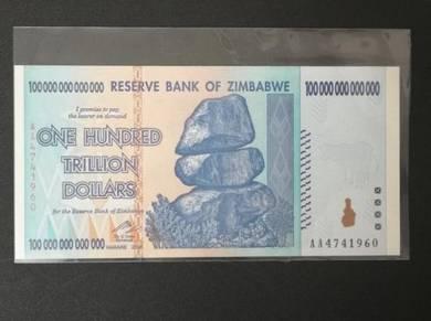 UNC Zimbabwe 100 Trillion Dollars