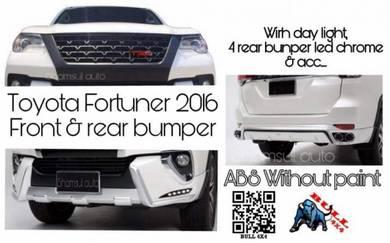 Toyota fortuner 17/18 front & rear Bumper