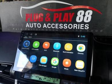 Androld player toyota wish 10inch 2screen seperate