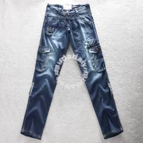 4572 Multi-Pocket Low Cut Jeans Roll-Up Pants