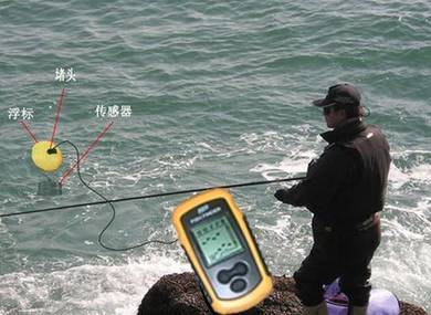 LCD Sonar Sensor Fish Finder Alarm Transducer 100