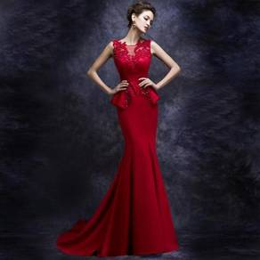 Red wedding bridal prom dinner dress RBP0157