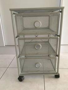 Ikea 3 drawer metal