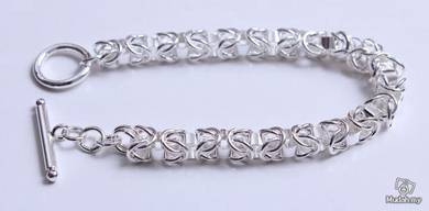 ABBS9-S020 Simple Atmospheric Silver 925 Bracelet