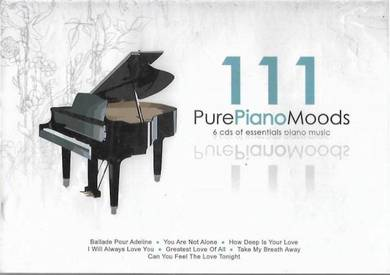 111 Pure Piano Moods 6 CD Instrumental Music