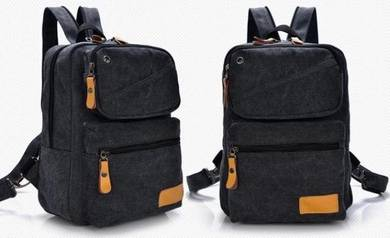 Black Stylish Dual-Use Casual Chest Bag Backpack