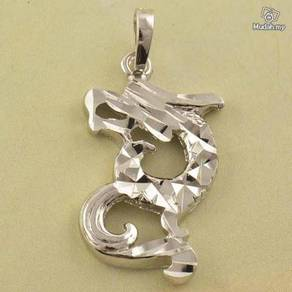 ABPWG-D006 9K White Gold Filled Dragon Necklace