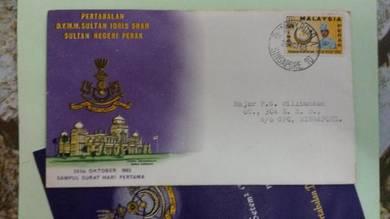 RARE FDC Perak Pertabalan 1963 No 485