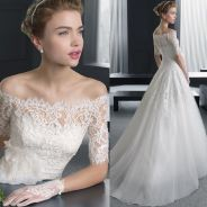 White wedding bridal prom dress gown RB0383