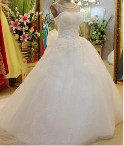 White wedding bridal prom dress gown RB0389