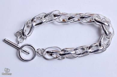 ABBS9-S018 Simple Atmospheric Silver 925 Bracelet