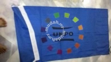 Flag tiang berkibar fullcolour material kainn