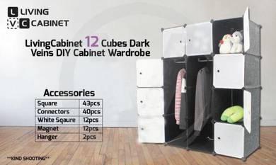 DIY Cabinet Wardrobe Living Cabinet 12 Cubes