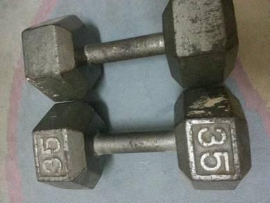 Dumbell 25kg x1 pair / 35kg both x1pair