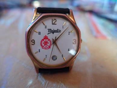 Majestic Quartz Watch with Omani Ministry Logo