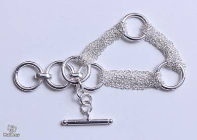 ABBS9-S023 Simple Atmospheric Silver 925 Bracelet