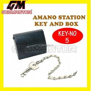 Amano pr 600 watchman clock station key and box