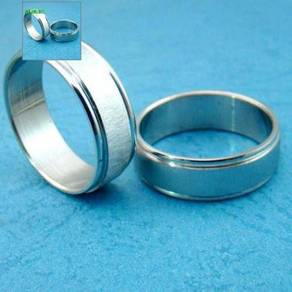 ABRSS-F001 2-Channel Line Silver Stainless Ring 10