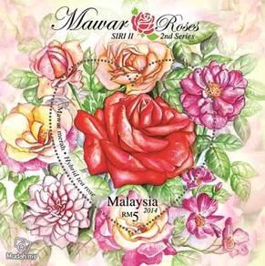 Miniature Sheet Roses 2nd Series Malaysia 2014
