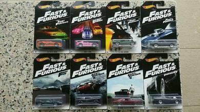 HotWheels Fast & Furious 2016 Series Set